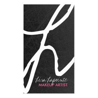 Cartões de visitas à moda do monograma