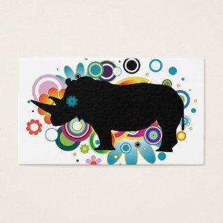 Cartões de visitas abstratos do rinoceronte