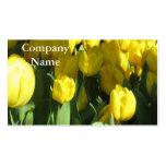 Cartões de visitas amarelos das tulipas
