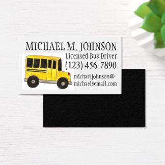 Cartões de visitas amarelos do motorista de auto
