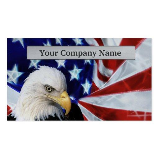 Cartões de visitas americanos da águia americana e