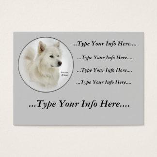 Cartões de visitas americanos do cão Eskimo