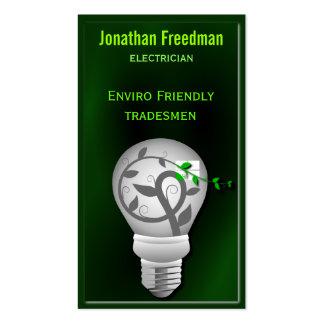 Cartões de visitas amigáveis do eletricista de Eco