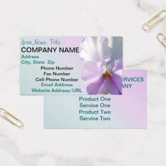 Cartões de visitas - amor perfeito cor-de-rosa
