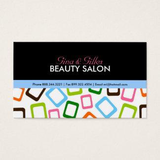 Cartões de visitas ancas do salão de beleza