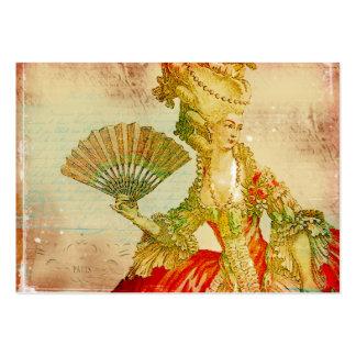Cartões de visitas antigos de Marie Antoinette