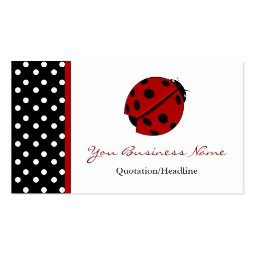 Cartões de visitas aparados bolinhas da senhora De