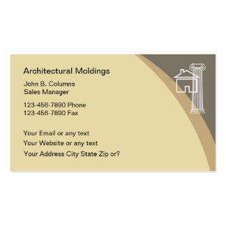 Cartões de visitas arquitectónicos dos moldes