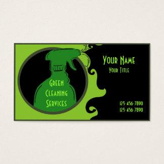 Cartões de visitas artísticos limpos verdes da