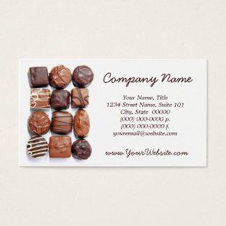 Cartões de visitas Assorted dos chocolates