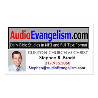 Cartões de visitas audio do evangelismo