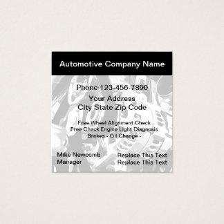 Cartões de visitas automotrizes do serviço