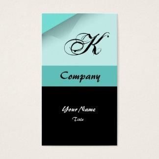 Cartões de visitas azuis customizáveis do