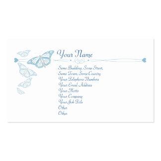 Cartões de visitas azuis da borboleta