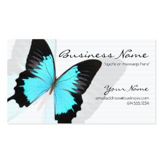 Cartões de visitas azuis do design da borboleta de