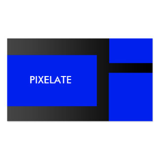 Cartões de visitas azuis do design gráfico do