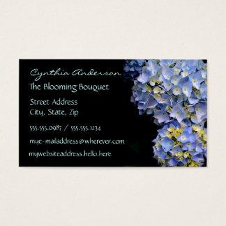 Cartões de visitas azuis do Hydrangea