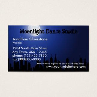 Cartões de visitas azuis do luar, estúdio da
