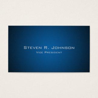 Cartões de visitas azuis escuro elegantes do