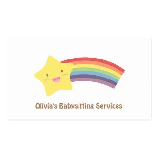 Cartões de visitas Babysitting bonitos da estrela