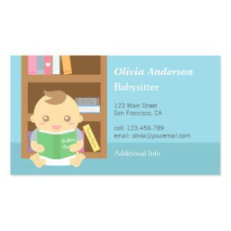 Cartões de visitas Babysitting do bebé bonito