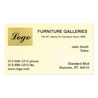 Cartões de visitas bege clássicos do logotipo