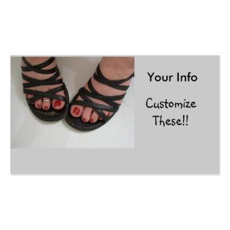 Cartões de visitas bonito dos dedos do pé, tecnolo
