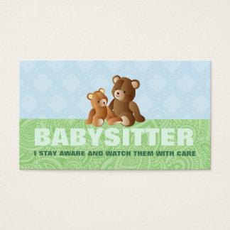Cartões de visitas bonitos da baby-sitter
