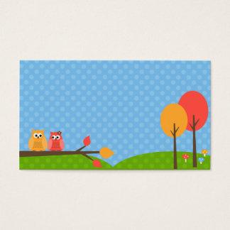 Cartões de visitas bonitos da coruja