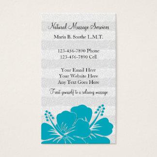 Cartões de visitas bonitos da massagem