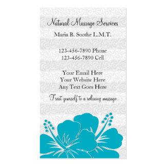 Cartões de visitas bonitos da massagem cartão de visita