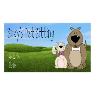 Cartões de visitas bonitos do cão e gato
