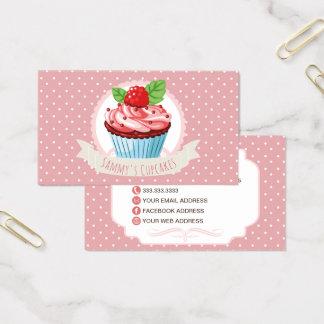 Cartões de visitas bonitos do cupcake do