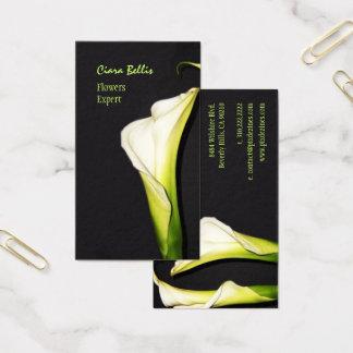 Cartões de visitas bonitos dos lírios de calla