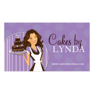 Cartões de visitas bonitos e doces da padaria