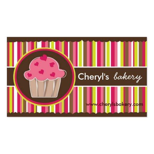 Cartões de visitas bonitos e lunáticos da padaria