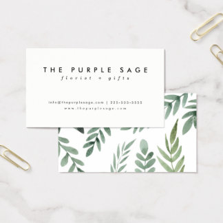 Cartões de visitas botânicos frescos à moda