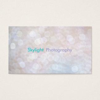 Cartões de visitas brancos & azuis da fotografia