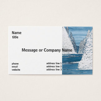 Cartões de visitas brancos do design do Aqua limpo