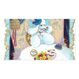 Cartões de visitas brancos do tea party do cupcake