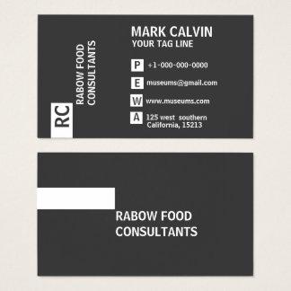 Cartões de visitas brancos e pretos profissionais