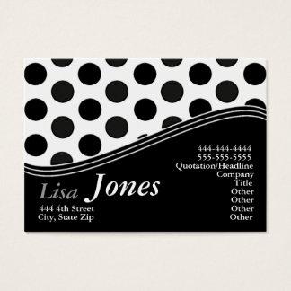 Cartões de visitas brancos & pretos do monograma