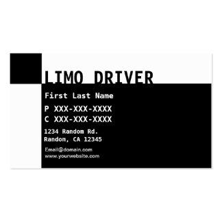Cartões de visitas brancos pretos do motorista do