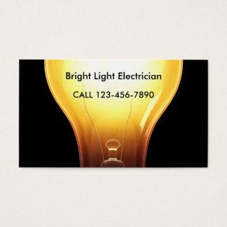 Cartões de visitas brilhantes do eletricista