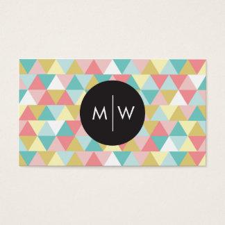 Cartões de visitas brilhantes dos triângulos
