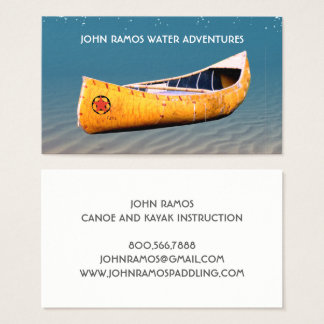 Cartões de visitas Canoeing e Kayaking do