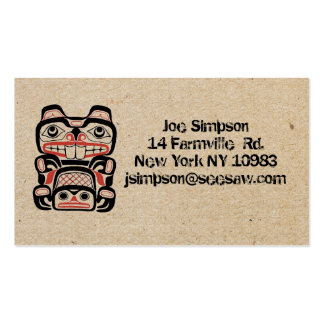 cartões de visitas carimbados do bloco de madeira
