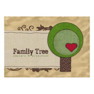 Cartões de visitas carnudos da árvore da amizade