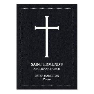 Cartões de visitas carnudos transversais da igreja