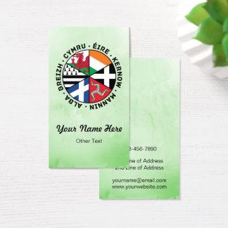 Cartões de visitas celtas do costume das bandeiras